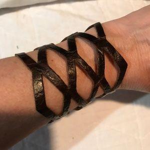 Jewelry - Genuine leather cuff bracelet.